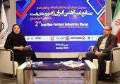 مصاحبه با دکتر شهرام رایگان رئیس دانشکده متالوژی و مواد دانشگاه تهران در حاشیه همایش صنایع غیرآهنی