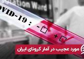 مورد عجیب در آمار کرونای ایران