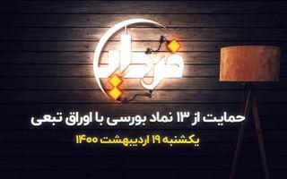 حمایت از ۱۳ نماد بورسی با اوراق تبعی