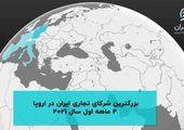 بزرگترین شرکای تجاری ایران در اروپا