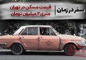 قیمت مسکن در تهران متری ۲ میلیون تومان