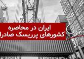 ایران در محاصره کشورهای پرریسک صادراتی